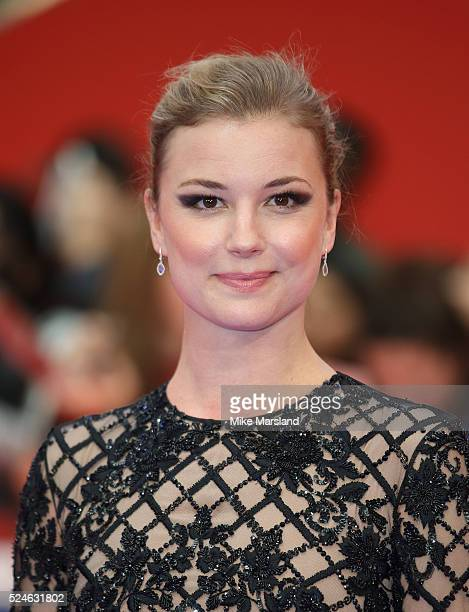 Emily Vancamp arrives for UK film premiere 'Captain America Civil War' at Vue Westfield on April 26 2016 in London England