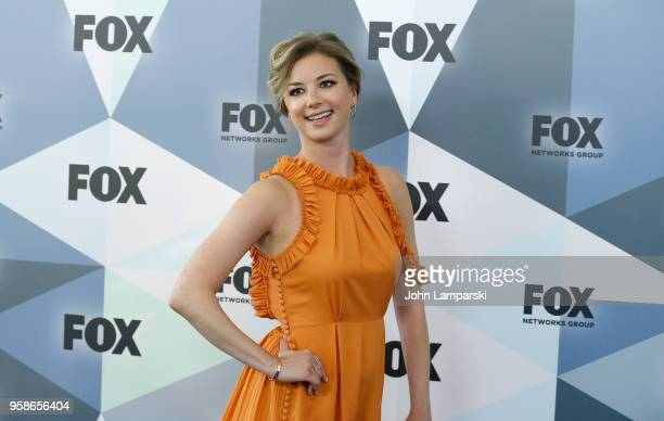 Emily VanCamp attends 2018 Fox Network Upfront at Wollman Rink Central Park on May 14 2018 in New York City