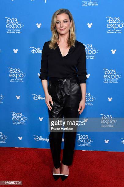 Emily VanCamp attends D23 Disney Legends event at Anaheim Convention Center on August 23 2019 in Anaheim California