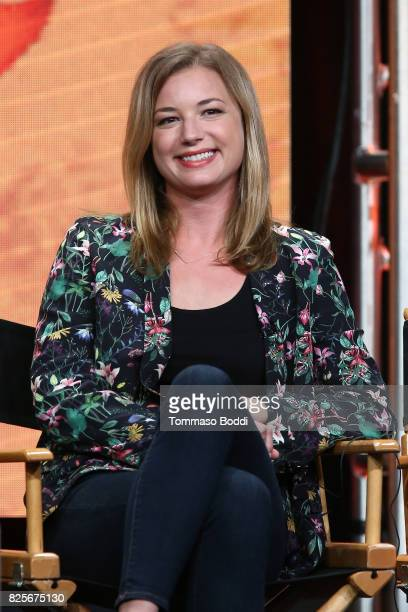 Emily Vancamp attends the 2017 Summer TCA Tour CW Panels at The Beverly Hilton Hotel on August 2 2017 in Beverly Hills California