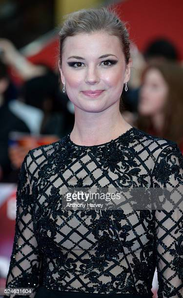 Emily Vancamp attends the European premiere of 'Captain America Civil War' at Vue Westfield on April 26 2016 in London England