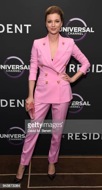 Emily VanCamp attends the screening of The Resident premiering on Universal Channel, Tuesday 10th April at 9pm with Matt Czuchry at Rosewood Hotel on...