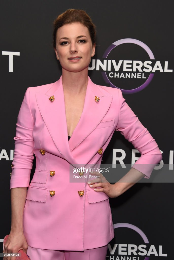Emily VanCamp attends the screening of The Resident premiering on Universal Channel, Tuesday 10th April at 9pm with Matt Czuchry at Rosewood Hotel on April 9, 2018 in London, England.