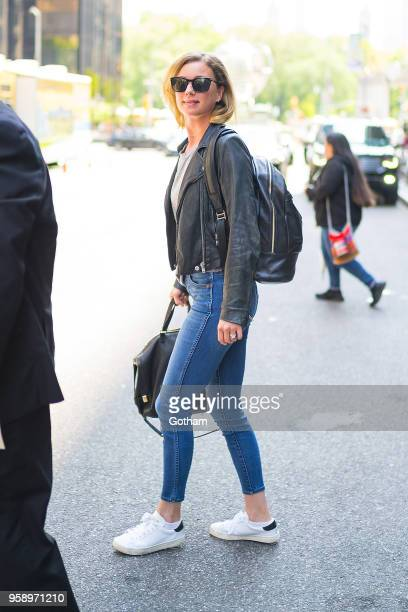 Emily VanCamp is seen in Midtown on May 15 2018 in New York City