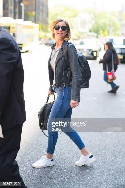 Emily VanCamp is seen in Midtown on May 15 2018 in New York City