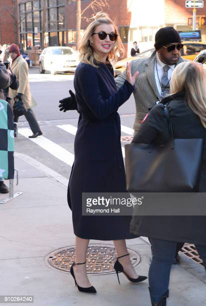 Emily VanCamp is seen walking in Soho on January 25 2018 in New York City