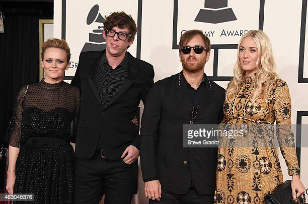 Emily Ward recording artists Patrick Carney and Dan Auerbach of music group The Black Keys and Jen Goodall attend The 57th Annual GRAMMY Awards at...