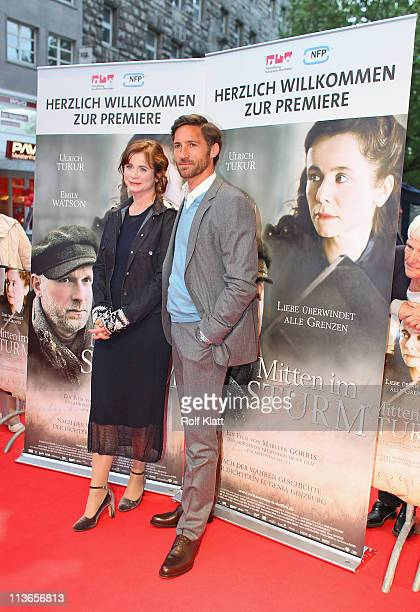 Emily Watson and Benjamin Sadler attend the Germany premiere of Within the Whirlwind on May 4 2011 in Essen Germany