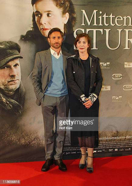 Emily Watson and Benjamin Sadler attend the Germany premiere of' Within the Whirlwind' on May 4 2011 in Essen Germany