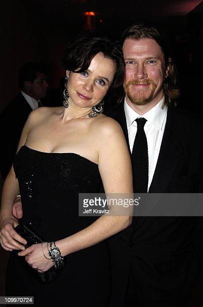 Emily Watson and husband Jack Waters during HBO Golden Globe Awards Party Inside at Beverly Hills Hilton in Beverly Hills California United States