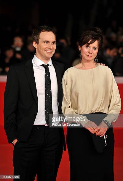 Emily Watson and Jim Loach attend the Oranges and Sunshine premiere during The 5th International Rome Film Festival at Auditorium Parco Della Musica...