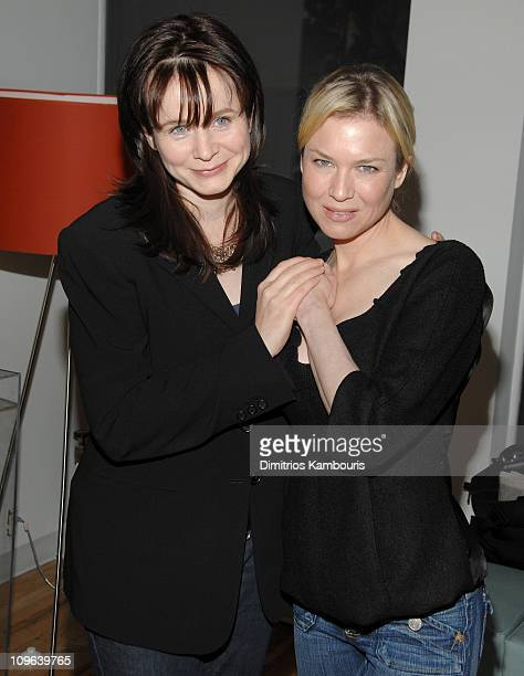 Emily Watson and Renee Zellweger during Tribeca Cinema Series Hosts Miss Potter Tea Party and Beatrix Potter Gallery Launch at Tribeca Cinemas...