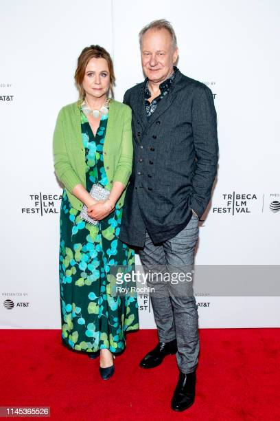 "Emily Watson and Stellan Skarsgard attend Tribeca TV: ""Chernobyl"" at the 2019 Tribeca Film Festival at Spring Studio on April 26, 2019 in New York..."