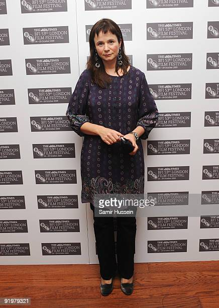 Emily Watson arrives for the premiere of 'Cold Souls' during the Times BFI 53rd London Film Festival at the Vue West End on October 18 2009 in London...