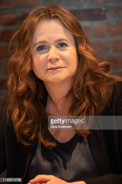 "Emily Watson at the ""Chernobyl"" Press Conference at the Beekman Hotel on April 27, 2019 in New York City."