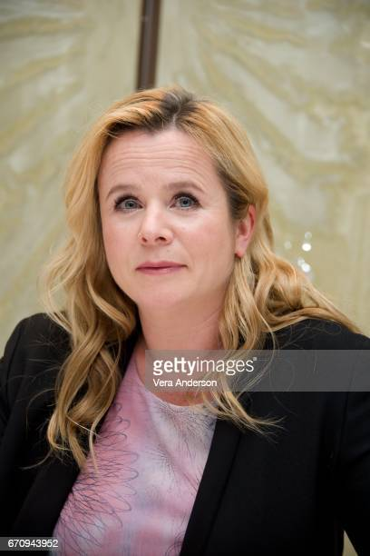 "Emily Watson at the ""Genius"" Press Conference at the London Hotel on April 19, 2017 in New York City."