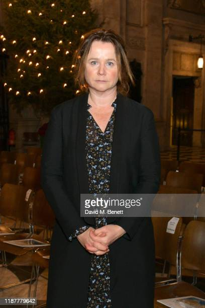 Emily Watson attends the Cancer Research UK St Paul's Carol Concert at St Paul's Cathedral on December 10 2019 in London England