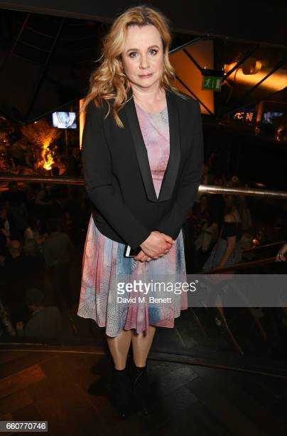 Emily Watson attends the London Premiere after party for the National Geographic Channel's 'Genius' at Quaglino's on March 30 2017 in London United...