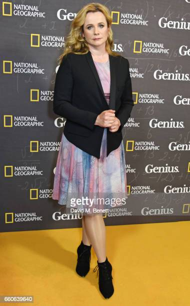 Emily Watson attends the London Premiere of the National Geographic Channel's Genius at the Cineworld Haymarket on March 30 2017 in London United...