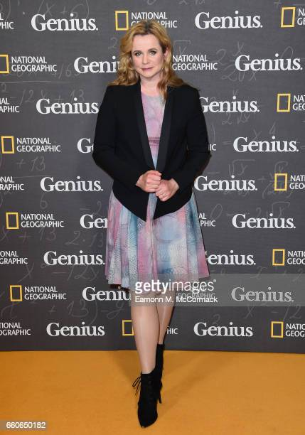 """Emily Watson attends the London Premiere Screening for National Geographic's """"Genius"""" at Cineworld London on March 30, 2017 in London, England."""
