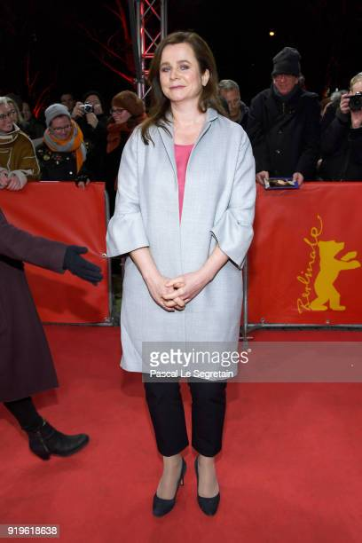 Emily Watson attends the 'The Happy Prince' premiere during the 68th Berlinale International Film Festival Berlin at Friedrichstadtpalast on February...