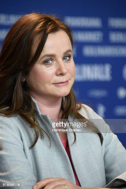 Emily Watson attends the 'The Happy Prince' press conference during the 68th Berlinale International Film Festival Berlin at Grand Hyatt Hotel on...
