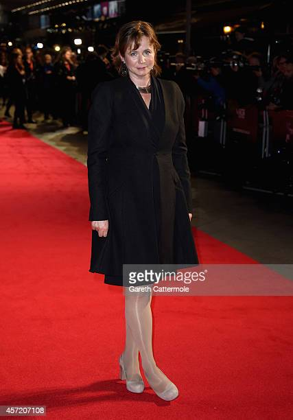Emily Watson attends the VIP arrivals of the World Premiere Centrepiece Gala supported by the Mayor of London for Testament Of Youth during the 58th...