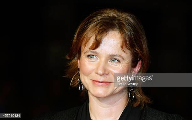 Emily Watson attends the World Premiere Centrepiece Gala supported by the Mayor of London red carpet arrivals for 'Testament Of Youth' during the...