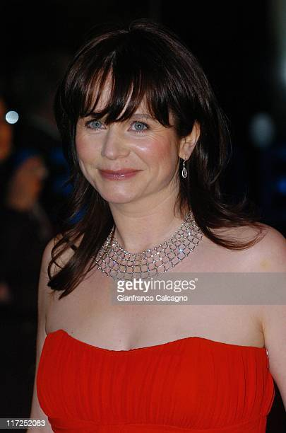 Emily Watson during Miss Potter London Premiere Arrivals at Odeon Leicester Square in London Great Britain