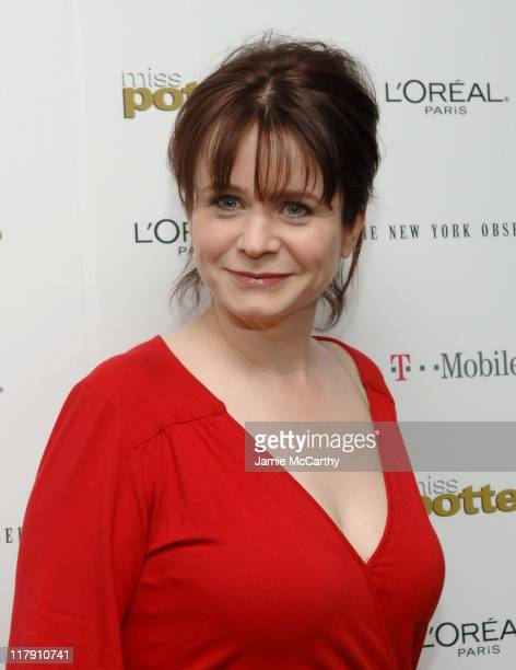 Emily Watson during Miss Potter New York City Premiere Sponsored by The New York Observer L'Oreal Paris and TMobile at Director's Guild of America...