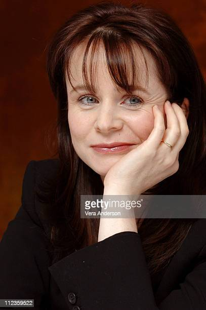 """Emily Watson during """"Miss Potter"""" Press Conference with Chris Noonan, Emily Watson, Renee Zellweger at Essex House in New York City, New York, United..."""