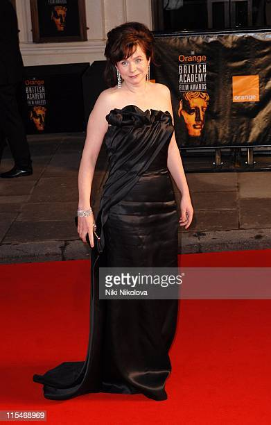 Emily Watson during The Orange British Academy Film Awards 2007 Red Carpet Arrivals at Royal Opera House in London Great Britain