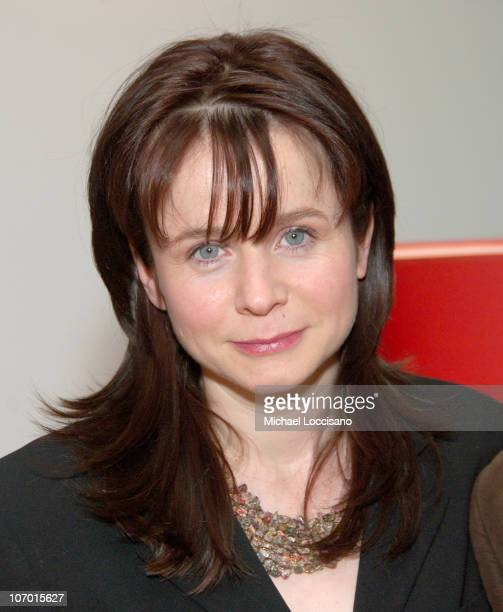 """Emily Watson during Tribeca Cinema Series Hosts """"Miss Potter"""" Tea Party and Beatrix Potter Gallery Launch at Tribeca Cinemas Gallery in New York..."""