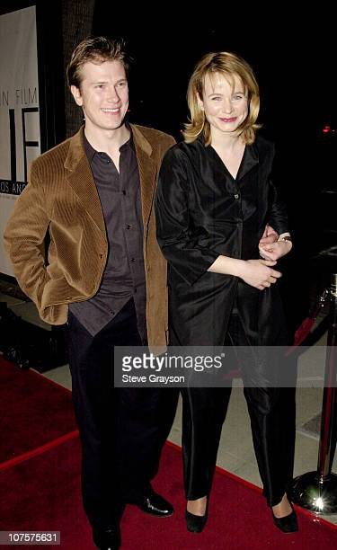 Emily Watson husband Jack pose for photographers at The Los Angeles premiere of Gosford Park at the Academy of Motion Pictures Arts Sciences in...