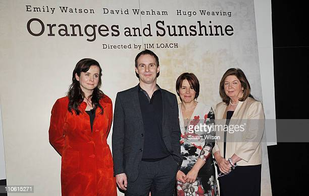 Emily Watson Jim Loach Rona Munro and Margaret Humphreys attend the UK gala screening of Oranges And Sunshine at BFI Southbank on March 22 2011 in...