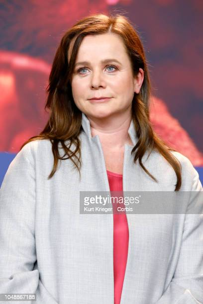 Emily Watson photographed at the press conference for 'The Happy Prince' during the 68th Berlin Film Festival at the Grand Hyatt Hotel on February 17...