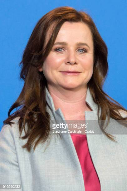 Emily Watson poses at the 'The Happy Prince' photo call during the 68th Berlinale International Film Festival Berlin at Grand Hyatt Hotel on February...