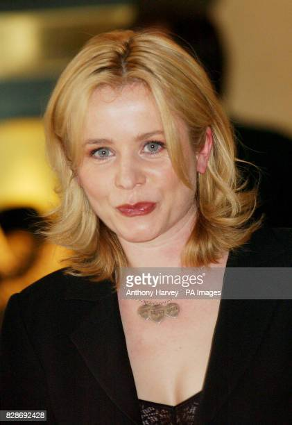 Emily Watson who plays Peter Sellers first wife Anne Howe poses for photographers at the photocall to promote 'The Life and Death of Peter Sellers'...