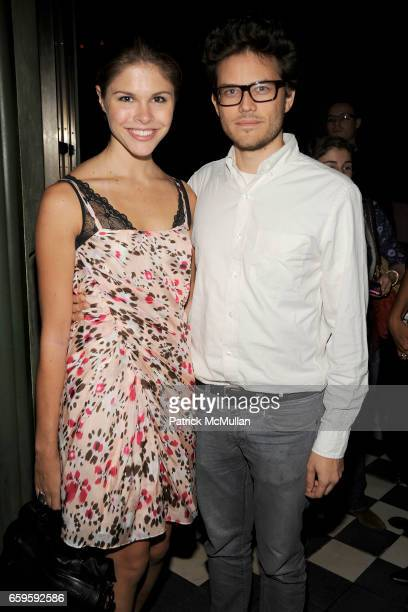 Emily Weiss and Diego Duenas attend The Teen Vogue Handbook Launch Party Hosted by Amy Astley at Rose Bar on October 13 2009 in New York City