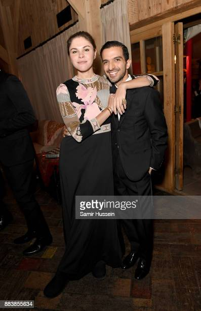 Emily Weiss and Imran Amed attend the gala dinner during #BoFVOICES on December 1 2017 in Oxfordshire England
