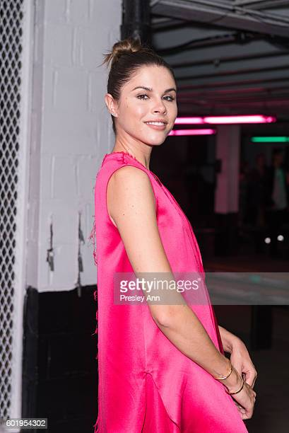 Emily Weiss attends Baja East Front Row during New York Fashion Week at 25 Beekman on September 9 2016 in New York City