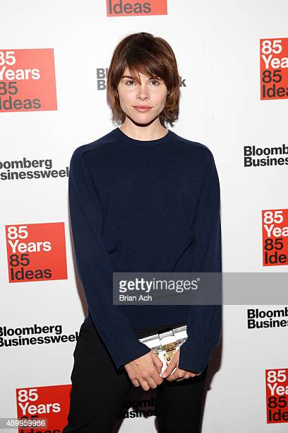 Emily Weiss attends Bloomberg Businessweek's 85th anniversary celebration at the American Museum of Natural History on December 4 2014 in New York...