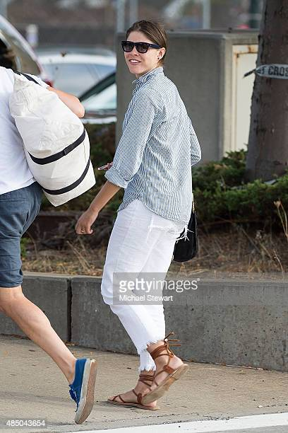 Emily Weiss seen at the Air Pegasus West 30th Street Heliport on August 23 2015 in New York City
