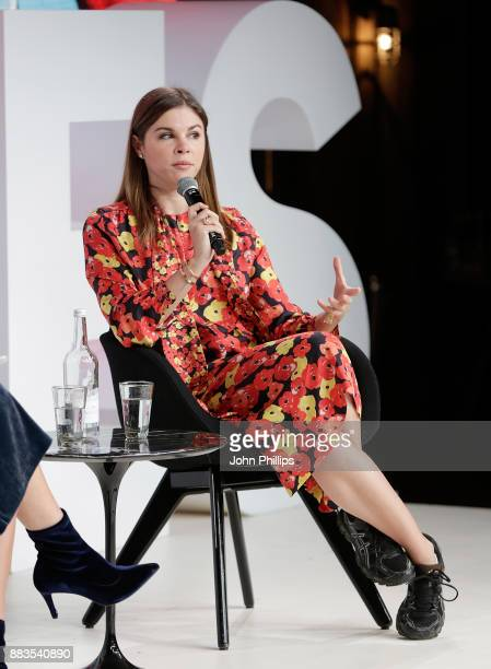 Emily Weiss speaks on stage during #BoFVOICES on December 1 2017 in Oxfordshire England