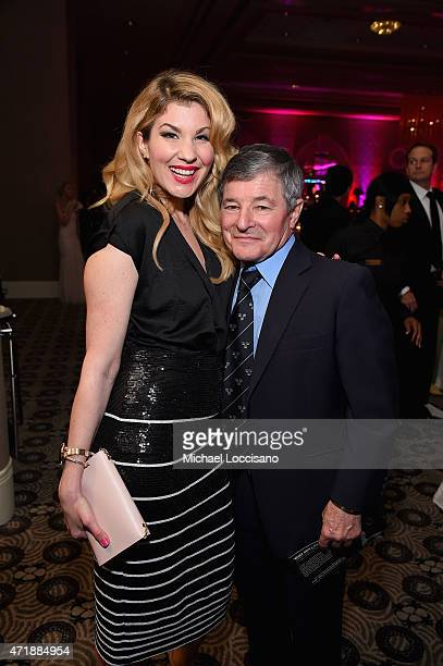 Emily West and Jean Cruguet attends the 141st Kentucky Derby Unbridled Eve Gala at Galt House Hotel Suites on May 1 2015 in Louisville Kentucky