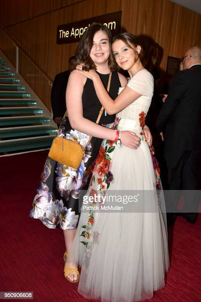 Emily Whitehead and Millie Bobby Brown attend the 2018 TIME 100 Gala at Jazz at Lincoln Center on April 24 2018 in New York City