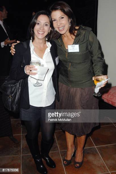 Emily Whitesell and Laurie Harbert attend Sunset in the Palisades Tisch School of the Arts at Private Residence on September 23 2010 in Pacific...