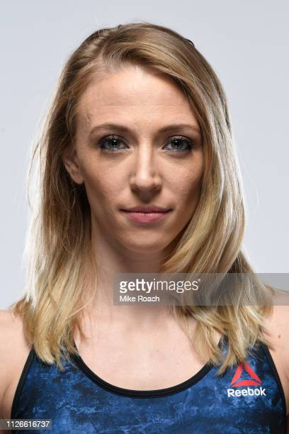 Emily Whitmire poses for a portrait during a UFC photo session on February 14 2019 in Phoenix Arizona
