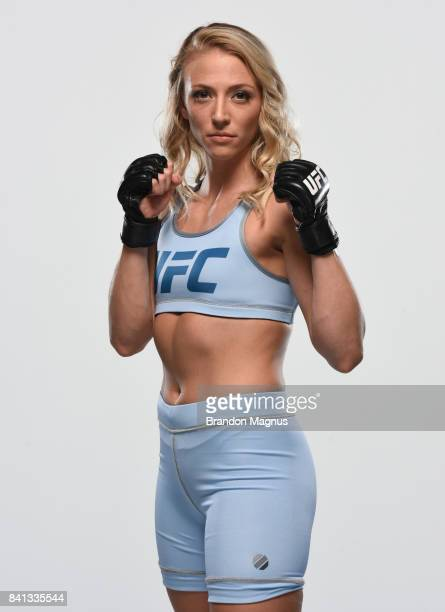 Emily Whitmire poses for a portrait during the filming of The Ultimate Fighter at the UFC TUF Gym on July 15 2017 in Las Vegas Nevada
