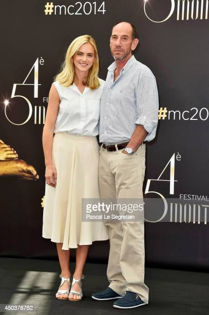 Emily Wickersham and Miguel Ferrer attend a photocall at the Grimaldi forum on June 10 2014 in MonteCarlo Monaco